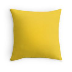 'Designer Fall 2016 Color Trends-Spicy Mustard Yellow Solid Color' Throw Pillow by podartist Yellow Throw Pillows, Decorative Throw Pillows, Floor Pillows, Bed Pillows, Cushions, Yellow Home Decor, Diy Home Decor, Decor Crafts, Room Decor