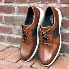 Tap into sport-infused dress shoes.