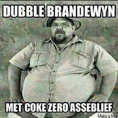 Double brandy with coke zero please! #brandewynhetniebriekenie #afrikaans…