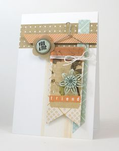 You and Me   Shari Carroll  {Basic Grey: Fact and Fiction}  Great inspiration for a PL card
