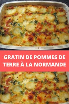 Potato gratin with Normandy - Recettes Astuces - Vegetarian Recipes Vegan Crockpot Recipes, High Protein Vegetarian Recipes, Vegetarian Breakfast Recipes, Low Carb Chicken Recipes, Easy Salad Recipes, Lunch Recipes, Healthy Dinner Recipes, Kid Recipes, Quick Easy Healthy Meals