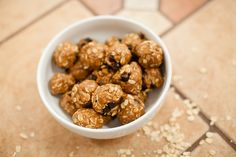 Peanut Butter Chocolate Chip Oatmeal Balls - gluten free. kid friendly. can be dairy free. no baking. super easy. tasteandseewellnessnc.com