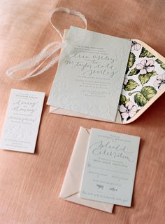 Wedding Invitations by Coral Pheasant Stationery. See the wedding on SMP: http://www.StyleMePretty.com/connecticut-weddings/darien/2014/02/24/traditional-elegant-wedding-in-darien/ Charlotte Jenks Lewis