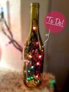 DIY: Wine Bottle Lights! by SpaceCoyote