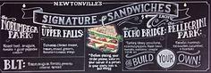 Chalkboard art - sandwich menu - wfm newtonville by Elissa Surabian