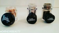 Our Loose Pigment Eyeshadows @tashcosmetics.com Shades From Left to Right 👉 BRONZED • SILVER SHEEN • CINNAMON & SUGAR