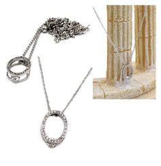 """""""Delicate small oval crystal silver necklace"""" by oceanfashion on Polyvore"""