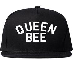 Queen Bee Printed Snapback Cap Womens Cute Black Girls Hat Fashion Lil Kim History Gangsta King Nicki Minaj