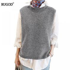 Knitting: wool women sweater vest sleeveless O-neck knitted long . Knitting: wool women sweater vest sleeveless O-neck knitted long spin vests gray casual # . Handgestrickte Pullover, Knit Vest Pattern, Sweater Fashion, Fashion Vest, Wool Sweaters, Sweater Vests, Pulls, Casual, Sweaters For Women