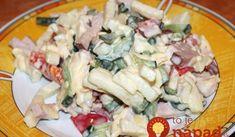 """Bohatý šalát """"Olenka"""": Ľahký, sýty, chrumkavý a hlavne za 5 minút hotový – pôžitok z každej lyžice! Creme Fraiche, Remoulade, Pasta Salad, Potato Salad, Salads, Ethnic Recipes, Foods, Salt And Pepper, Parsley"""