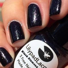 Lilypad Lacquer- Black Diamonds. Bought in November 2014 from LPL Australia shop. Pinned from Almost Famous Nails.