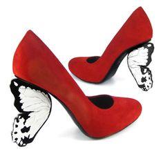 butterfly heels by Alberto Guardiani