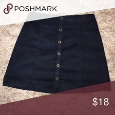 Navy Blue mini skirt (Hollister) faux suede Hollister mini Skirt color: Navy Blue // only worn once // No trades :) Hollister Skirts Mini