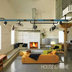 Photo Gallery: Stylish Loft Living   House & Home Loft in Regina  Perimeter seating!!!