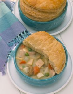 Disney's 50's Prime Time Cafe chicken pot pie.  I haven't made this but doesn't sound to difficult.
