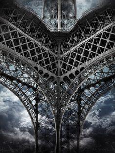 vmburkhardt:  (via Fotoblur - Tour Eiffel | Paris [Sky cut N°422] France by Andrea Costantini)