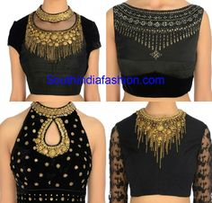 jeweled blouse designs