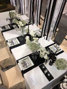 Fioreria Oltre/ Black&White centerpiece/ Wedding fair