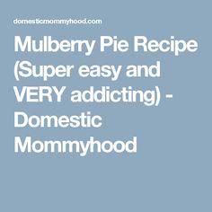 Mulberry Pie Recipe (Super easy and VERY addicting) - Domestic Mommyhood Cantaloupe Recipes, Radish Recipes, Gnocchi Recipes, Pie Recipes, Mulberry Pie, Mulberry Recipes, Spagetti Recipe, Super Simple, Thermomix