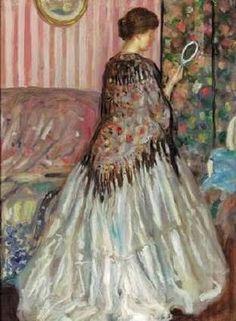⊰ Posing with Posies ⊱ paintings of women and flowers - frederick carl frieseke