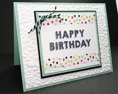 features Party Wishes, a SAB stamp set, by Stampin' Up!