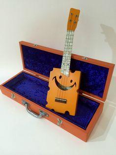 Cheezy Ukulele Soprano Original Orange with Original Hard Case   eBay