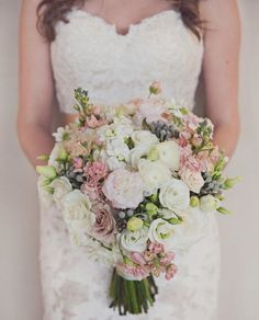 174 best soft pink green wedding images on pinterest in 2018 blush pink ivory gray and green bouquet by rachel a clingen mightylinksfo