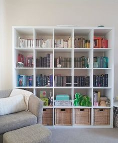 KALLAX Shelving unit, oak effect, cm. You can use the furniture as a room divider because it looks good from every angle. Home Room Design, Home Office Design, Home Office Decor, Home Decor, Study Room Decor, Bedroom Decor, Kallax Shelving Unit, Shelves, Aesthetic Room Decor