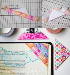 Looking for some Bible Journaling Ideas? These Washi Tape Bible Journaling Bookmark is a Quick and Easy to Make Project!