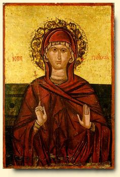 Saint Parascevi - exhibited at the Temple Gallery, specialists in Russian icons