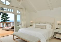 Oceanfront cottage high on a bluff overlooking the Gulf Islands of British Columbia. Sunshine Coast Home Design