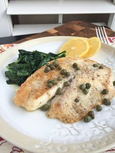 Parmesan Crusted Fish with Lemon and Capers @FoodBlogs