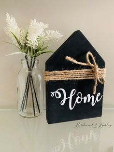 This cute rustic little house can be painted in any colour & the wording/text is completely customizable! Adds a little rustic charm to any space in your home! Would also make a special gift to any loved ones - send it directly to them at home while we are all physically distancing from each other. #rustic #rustichomedecor #mothersday #mothersdaygifts #giftsformom #diyhomedecor #diycrafts #woodsigns #giftsforher #custommade #personalizedgifts #customgift Rustic Wood Decor, Farmhouse Decor, Customized Gifts, Personalized Gifts, Wooden Cutouts, Custom Wood Signs, Etsy Crafts, Rustic Charm, Gifts For Him