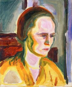 edvard munch(1863-1944), portrait of female model, 1923-33. oil on canvas, 46 cm x 38 cm. munch-museet, oslo, norway