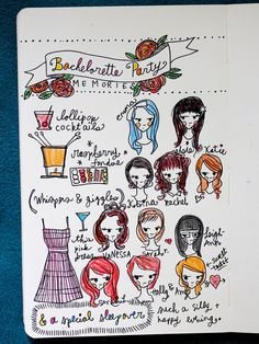 I love that this is how she kept track of memories at her bachelorette party - so creative and fun! I'd frame something like that.