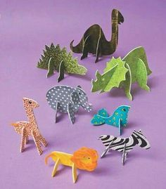 No-Sew Fabric Crafts for Kids by Mary Link - - No-Sew Fabric Crafts for Kids by Mary Link Kids Crafts & Activities No-Sew Fabric Crafts für Kinder von Mary Link Cardboard Animals, Cardboard Crafts, Fabric Crafts, Paper Crafts, Cardboard Playhouse, Cardboard Furniture, Paper Toys, Diy Paper, Sewing Projects