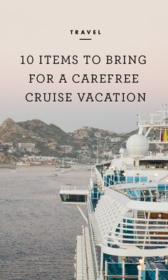 Sun, surf, and all the food you care to eat -- what more could you need? While your packing list for a cruise vacation won't be too different from that of any other trip, there are certain items you'll want to have with you due to the unique nature of sea travel. /