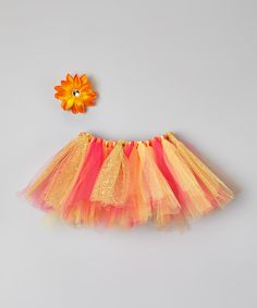 Another great find on #zulily! Gold Tutu & Flower Clip - Infant & Toddler by The Vibrant Butterfly #zulilyfinds