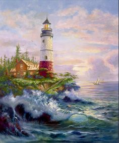 ART~ Bright Beacon Lighthouse~ Carl Valente