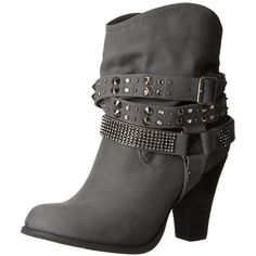 Not Rated Women's Double Dip Harness Boot ($74) ❤ liked on Polyvore featuring shoes, boots and harness boots