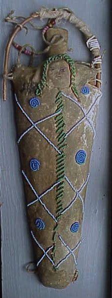 Antique PLAINS BEADED DOLL CRADLE BOARD, C. 1890-1900