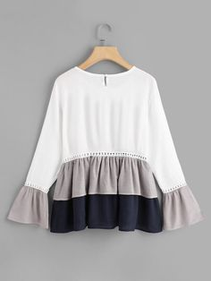Shop Flounce Sleeve Ruffle Hem Blouse online. SheIn offers Flounce Sleeve Ruffle Hem Blouse & more to fit your fashionable needs.