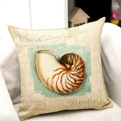 Marine Life Painting Pattern Square Shape Pillow Case(Without Pillow Inner)