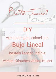 Bullet Journal Lineal DIY – für perfekte Layouts Bullet Journal Diy, Bullet Journal Layout, Bullet Journal Inspiration, Bujo, Diy And Crafts, Writing, How To Plan, Scrapbook, Lifestyle