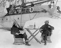 #French expeditionists drinking Mumm #Champagne in Antarctica, Bastille Day 1904. #BastilleDay #vintage #retro