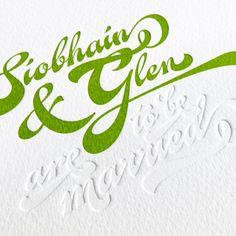 A letterpress printed & blind debossed wedding invitation    http://www.typoretum.co.uk