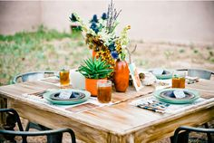 Southwestern Fiesta Theme! Fun and Festive! | via Green Wedding Shoes