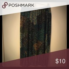 """Skirt Cute skirt with Shades of Teal and Brown! Like new! 27"""" long Skirts Asymmetrical"""