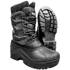 Surplus Cold Weather Thermal Boots. Water repellent, durable & lightweight, with high Thinsulate shaft, removable inner liner & slip resistant rubber foot. Ideal for cold & wet weather. Only £34.99.