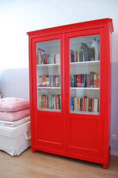 new old bookcase - with books by whereyourheartis, via Flickr